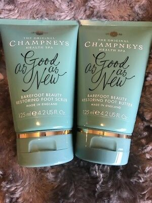 Champneys Health Spa Barefoot Beauty Resorting Foot Scrub And Foot Butter