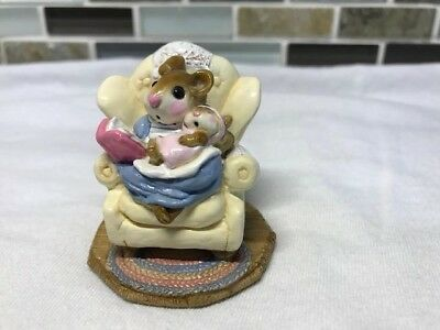 """Wee Forest Folk """"Babby Sitter"""" M-66 Yellow Chair; Mint Condition"""