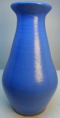 """Bybee Blue Art Pottery Vase Vintage Hand Thrown 10"""" Southern KY Arts and Crafts"""
