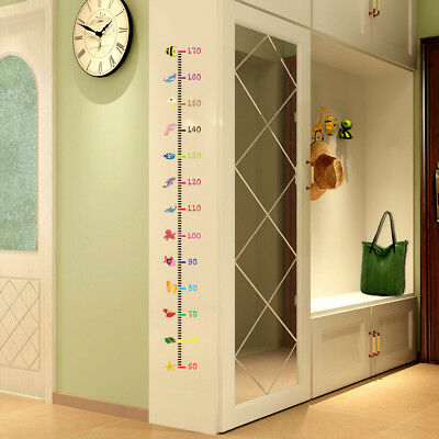 PRINCESS GROWTH Chart Wall Stickers Vinyl Hearts Decals Room Decor ...