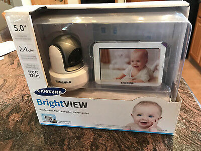Samsung SEW-3043W BrightVIEW HD Baby Video Monitoring System IR Night Vision