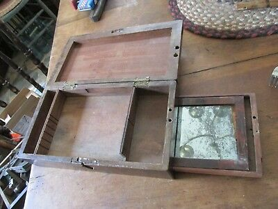 Odd Document Box???? Mirror In Hidden Side Pulls Out