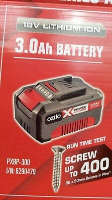 Ozito 18V 3.0Ah 3000Mah Lithium Li-Ion Battery Tool Cordless Drill Saw Grinder