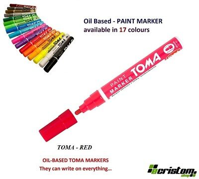 Red Waterproof Permanent Car Tyre Tire Metal Paint Pen Based Marker Toma