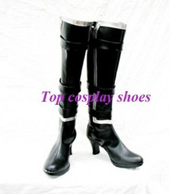 Dead Or Alive Ayane PU Leather Cosplay Boots Shoes