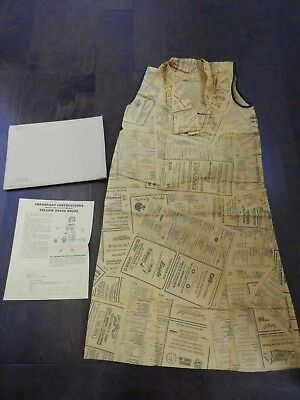 Vintage Retro Rare Yellow Pages Phone Book Advertising Promo Paper Dress