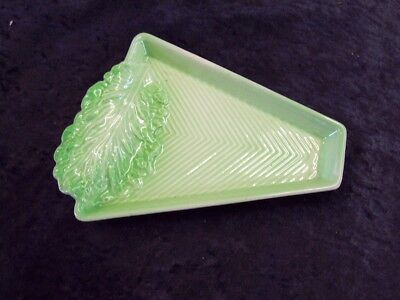 Carlton ware,Green leaf butter dish,Excellent condition, Deceased, 18cm, 1374,