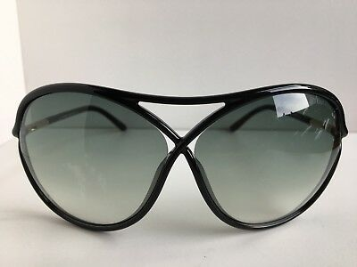 Tom Ford Vicky TF 184 TF184 01B Black Oversized Women's Sunglasses T1