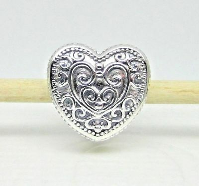 Authentic Pandora #797024 Enchanted Heart Sterling Silver Bead