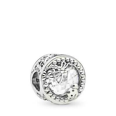 Authentic Pandora #797047CZ Enchanted Nature Sterling Silver Bead