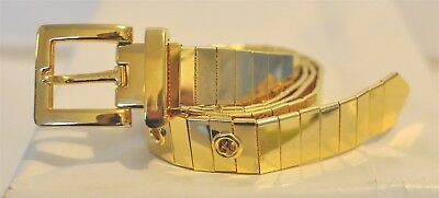 Women's Gold-tone Mirror Finish Metal Style Belt Size 28 Costume Accessory