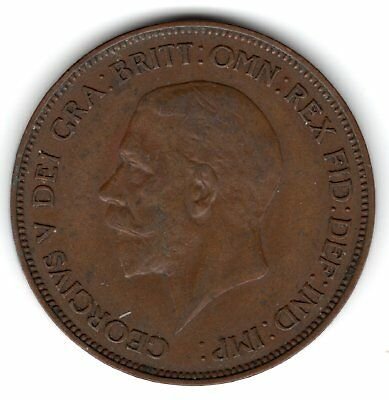 1935 Great Britain large one penny