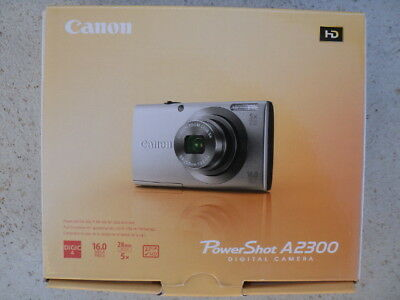 Canon Powershot A2300 HD 16 Megapixel Black With Battery Charge & 16 GB SD Card