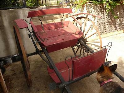 Antique Sulky WAGON for restoration. *GARDEN DISPLAY* TIMBER AND METAL