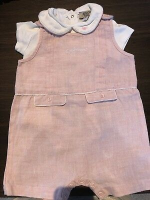 ARMANI BABY GIRL LINEN PINK JUMP SUIT SIZE 6 Month RRP $190