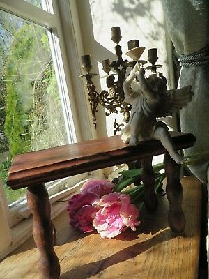 Charming Vintage French Petite Wooden Country Stool ~ Period Display