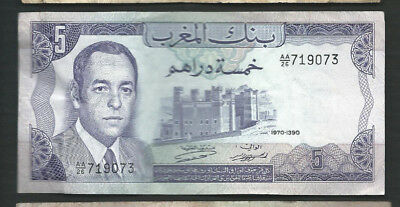 Morocco 1970 5 Dirhams P 56 Circulated