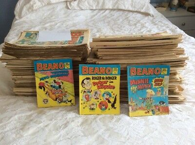 1981 To 1989 BEANO COMICS OVER 200 In Good Condition COLLECTION ONLY