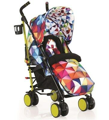 New Cosatto supa 2018 pushchair spectroluxe with footmuff & raincover from birth