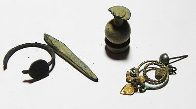 Zurqieh -As4382- Ancient Holy Land. Lot Of Bronze Items. All Ancient But One