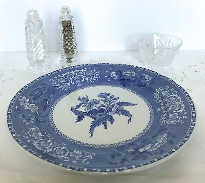 Spode Copeland CAMILLA BLUE SCALLOPED DINNER PLATES Old Blue Backstamp - 6 Avail