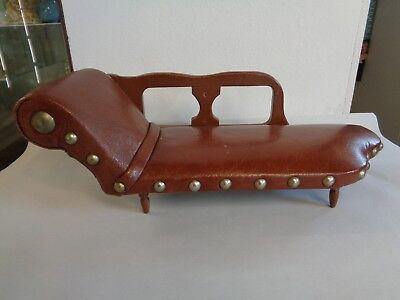 Apprentice Piece Leatherwork Chaise Longue - Very Rare