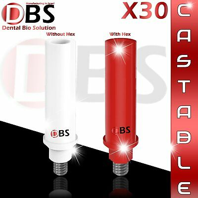 30X Plastic Castable Abutment With/Without Hex For Dental Implant Hex Dentist