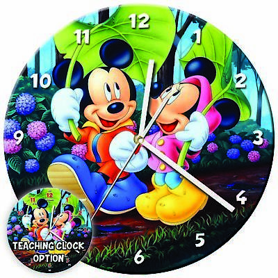 Disney Characters Teaching Wall Clock Kids Learning Gift Bedroom – 21