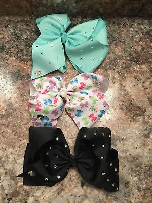 Lot Of 3 Large 🎀🎀🎀  JOJO SIWA BOWS Nice!!!!