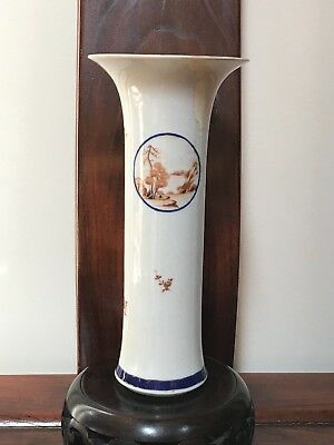 c.1785-Antique Chinese Export for American Market Porcelain Trumpet Beaker Vase