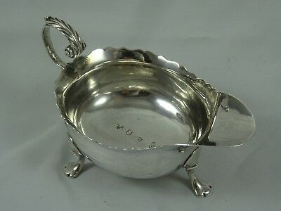 NEWCASTLE - GEORGE II solid silver SAUCE BOAT, 1750, 103gm
