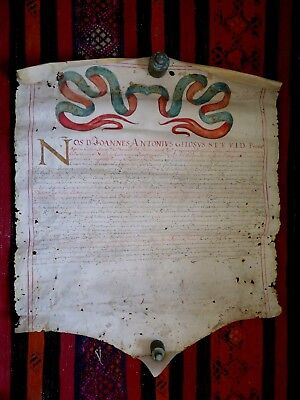 Innocenzo X° manoscritto del 1657 in cartapecora pelle cm. 72 X 57 Trapani