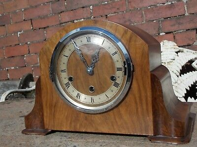 Vintage Art Deco Dual Chime Clock with Westminster & Whittington Chime