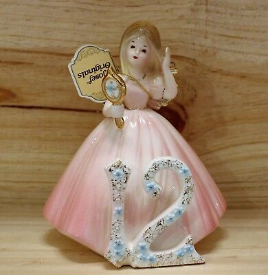 Vintage Josef Originals Birth Day Birthday Angel Figurine 12 12th