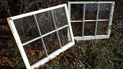 Architectural Salvage ~ UNIQUE ANTIQUE WINDOW SASH FRAME,  34x28 set of 2
