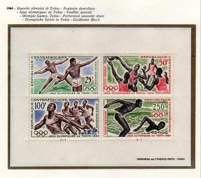 A9914) CENTRAFRICAINE REP 1964 MNH** Olympic games Tokyo s/s