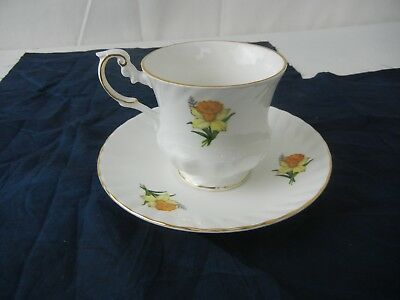 Queen's Bone China Centenary Pear March Tea Cup & Saucer