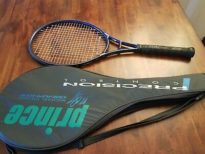 Prince Michael Chang Graphite  Oversize Longbody Tennis Racquet 4 1/2 + Bag