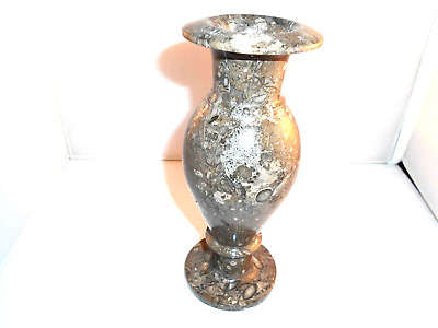 Fossilized Limestone,  Pakistan,  formed & polished as Vase candlestick holder