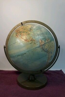 Vintage Replogle 12in Globe on stand