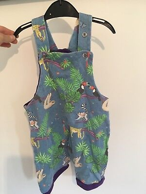 Sprout Jungle Dungarees Unisex 6-18 months organic cotton great condition