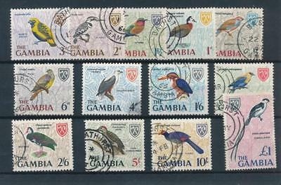 [36500] Gambia 1966 Birds Good set Very Fine used stamps