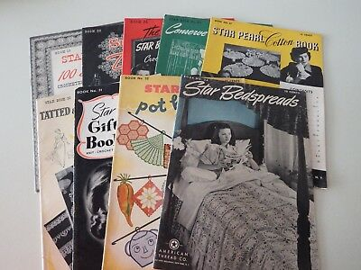 Vintage Lot Of 9 American Thread Co NY Craft Books 1942-1944