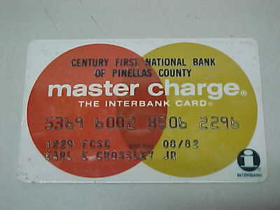 Vintage Old Expired Credit Card - Master Charge 08/82
