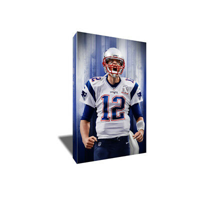 New England Patriots TOM BRADY Poster Photo Painting Artwork on CANVAS Wall Art