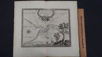 1697 SONDERBURGUM PUFENDORF Sonderborg Denmark Antique map