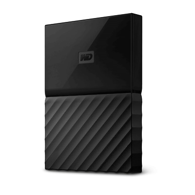 WD My Passport 1TB Black Manufacturer Refurbished Portable Hard Drive by West...
