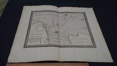 SITUS AHLBORGER FIORDT PUFENDORF MOUTH OF LIMFJORDEN WITH HALS MAP 1697 ships