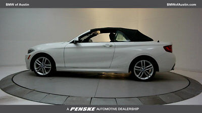 BMW 2 Series 230i 230i 2 Series Low Miles 2 dr Convertible Automatic Gasoline 2.0L 4 Cyl Alpine Wh