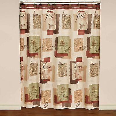Saturday Knight Limited Fabric Shower Curtain Inspire 70 X 72 in. Polyester